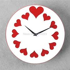wall watches love design wall clock best creative home decor