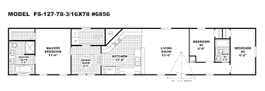 Home Floor Plan by Mobile Home Blueprints 3 Bedrooms Single Wide 71 E910ct U2014 1 073