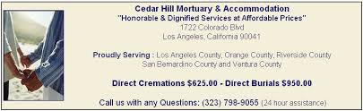cost for cremation low cost cremations in los angeles