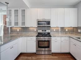 kitchen backsplash ideas with white cabinets office table