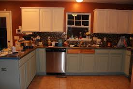 stone countertops chalk paint kitchen cabinets before and after