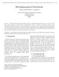fpga implementation of viterbi decoder pdf download available