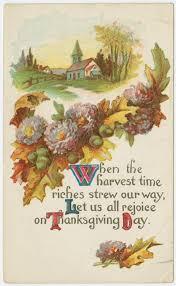 vintage thanksgiving greeting cards verses thanksgiving