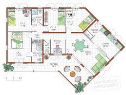 plan maison plain pied 100m2 3 chambres plan interieur maison plain pied newsindo co avec plan maison plain