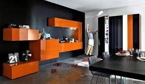 cuisine orange et noir en voici une cuisine originale certes aux couleurs du jour orange