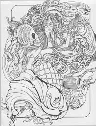 marvelous idea mermaid coloring pages for adults 25 best for