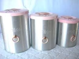 pink canisters kitchen antique kitchen canisters vintage metal duck canister set beautiful