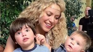 shakira shares adorable family photo of sons my two real gurus