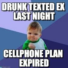 drunk texted ex last night success kid meme on memegen
