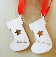 personalised christmas tree decoration by cairn wood design