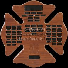 wooden maltese cross perpetual donor trees and plaques drico products