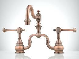 copper faucets kitchen sinks ponticello bridge lavatory faucet kitchen columbia bridge