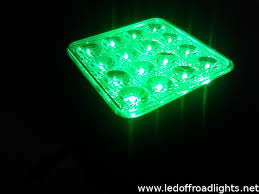 48w ip67 green lighting color led work light green led working