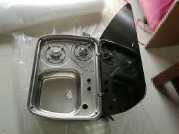 caravan sink with lid boat caravan cer 2 burner gas stove hob and sink combo with glass
