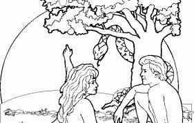 adam eve coloring pages kids download free printable