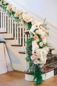 How To Decorate A Banister 20 Best Staircases Wedding Decoration Ideas Staircases Floral