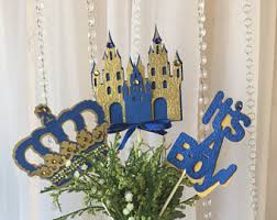 Royal Crown Centerpieces by 5 Pc Metallic Gold Cross Crowns Baptism Centerpieces