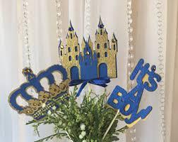 purple and gold crown centerpieces stick royal crown purple