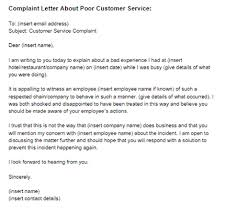 Template Complaint Letter For Poor Service complaint letter poor customer service sle just letter templates