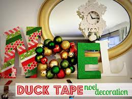 duck tape noel decoration