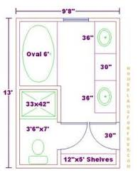 Bathroom And Closet Floor Plans  Bathroom PlansFree X - Master bathroom design plans