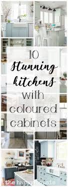 modern farmhouse kitchen cabinet colors 10 stunning farmhouse kitchens with coloured cabinets the