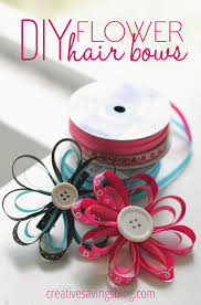 how to make your own hair bows diy flower hair bows kalyn