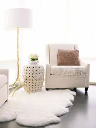 faux white fur rug rugs inspiration