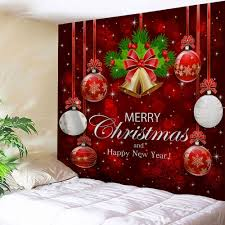 christmas wall decor 2018 wall merry christmas bell tapestry w inch l inch