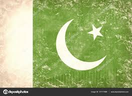 Pakistans Flag Old Pakistan Flag Background On Tattered Cardboard U2014 Stock Photo