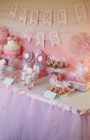baby shower candy table for and everything sweet ballerina baby shower dessert table pink baby