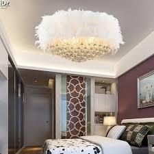deckenleuchte schlafzimmer neue restaurant federn runde kristall deckenleuchte schlafzimmer