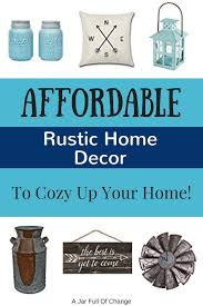 affordable rustic home decor under 25 a jar full of change