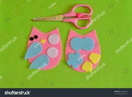 cutout details owl toy scissors fabric stock photo 430806502