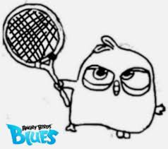 angry birds blues blue with tennis racket by angrybirdstiff on