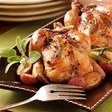 herb stuffed roasted cornish hens recipe taste of home