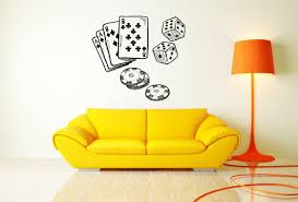 wall vinyl sticker decals mural room design poker card casino game