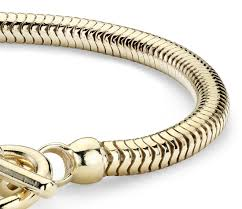 silver snake chain bracelet images Snake chain bracelet in sterling silver with yellow gold plated jpg