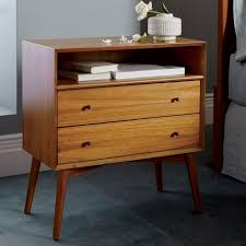 16 Nightstand Bedroom Modern Nightstands West Elm 16 Inch Wide Nightstand 18