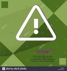 K He Modern Danger Exclamation Mark Flat Modern Web Design On A Flat