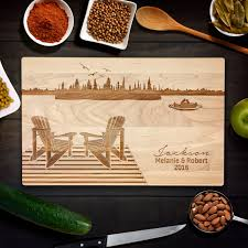 cutting board wedding gift personalized cutting board wedding gift muskoka cottage wedding