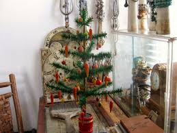 anything goes here merry antique feather tree with