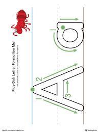 printable alphabet mat preschool alphabet printable worksheets myteachingstation com