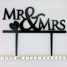 acrylic cake toppers mr mrs heart acrylic wedding day cake topper silhouette bakers
