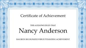 Certification Letter Of Accomplishment Certificates Office Com