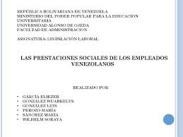 calculo referencial de prestaciones sociales en venezuela las prestaciones sociales by maria perozo issuu