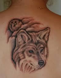 wolf against the moon and clouds wolf tattoos