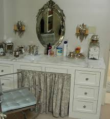 collection in unfinished makeup vanity table with unfinished oak