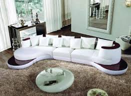 Appealing Contemporary Leather Living Room Furniture  Curved And - Curved contemporary sofa living room furniture