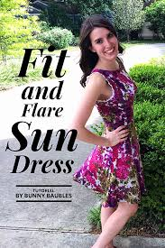 dress pattern fit and flare diy fit and flare sun dress sewing tutorial dress tutorials bunny
